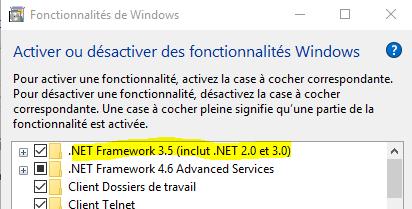 Fonctionnalité .NET 3.5